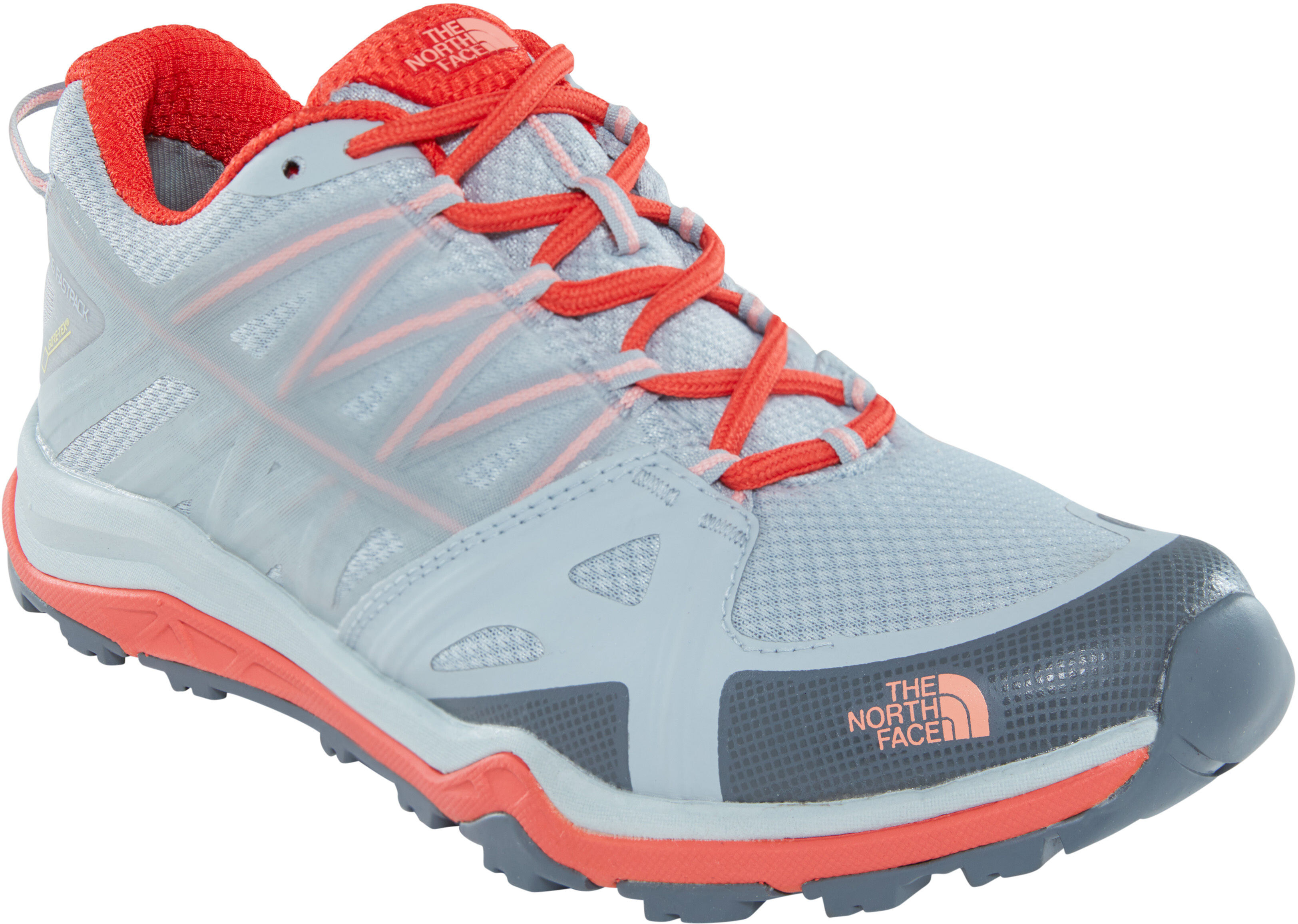 30292fbe4473 The North Face Hedgehog Fastpack Lite II GTX Shoes Women grey red at ...